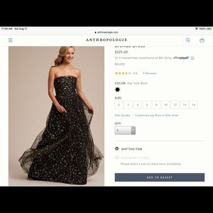 Anthropologie Brenda dress size 6